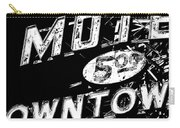 Motel Sign Black And White Carry-all Pouch