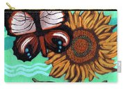 Moth And Sunflower Carry-all Pouch