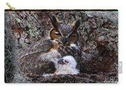 Mother And Baby Owl Carry-all Pouch