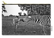 Mother And Child-black And White Carry-all Pouch