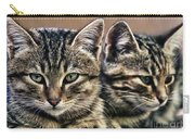 Mother And Child Wild Cats Carry-all Pouch
