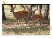 Mother And Yearling Deer Carry-all Pouch