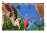 Mother And Young Sandhill Crane Carry-all Pouch