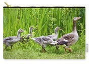 Mother Goose Leading Goslings Carry-all Pouch by Simon Bratt Photography LRPS