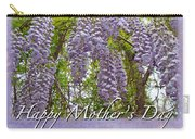 Mother's Day Card - Purple Wisteria Carry-all Pouch