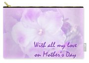 Mother's Day Greeting Card - African Violets Carry-all Pouch