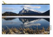 Mount Rundle In Winter Carry-all Pouch