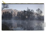 Mountain And Trees Reflected In A Foggy Lake Carry-all Pouch