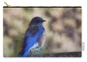 Mountain Bluebird Painterly Carry-all Pouch