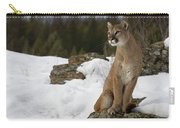 Mountain Lion Puma Concolor Sitting Carry-all Pouch