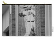 Mr Met In Black And White Carry-all Pouch by Rob Hans