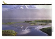Mt Rainier An Active Volcano Encased Carry-all Pouch