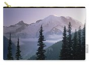 Mt Rainier As Seen At Sunrise Mt Carry-all Pouch