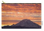 Mt Rainier December Sunrise Carry-all Pouch