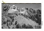 Mt. Rushmore Full View In Black And White Carry-all Pouch