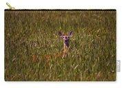 Mule Deer In Wheat Field, Saskatchewan Carry-all Pouch