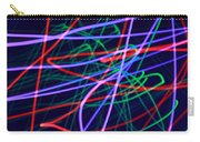 Multi-colored Glowing Light Streaks Carry-all Pouch