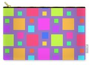 Multicoloured Squares Carry-all Pouch by Louisa Knight