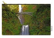 Multnomah Falls At Summer Solstice - Posterized Carry-all Pouch