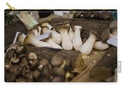 Mushrooms At The Market Carry-all Pouch by Heather Applegate