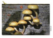Mushrooms In Relief  Carry-all Pouch