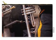 Music - Trumpet - Police Marching Band  Carry-all Pouch by Mike Savad