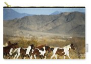 Mustangs Carry-all Pouch by Mark Newman and Photo Researchers
