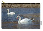 Mute Swans On A Cape Cod Pond - Cygnus Olor - Quissett  Massachusetts Carry-all Pouch