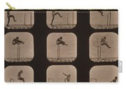 Muybridge Locomotion Of Man Jumping Carry-all Pouch by Photo Researchers
