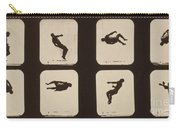 Muybridge Locomotion, Twisting Carry-all Pouch