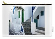 Mykonos Stairs Carry-all Pouch by Rebecca Margraf