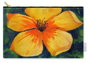 Mysterious Yellow Flower Carry-all Pouch