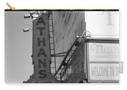 Nathan's Famous At Coney Island In Black And White Carry-all Pouch