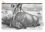 Native Amerians: Cutting Buffalo Carry-all Pouch