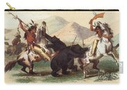 Native American Indian Bear Hunt, 19th Carry-all Pouch
