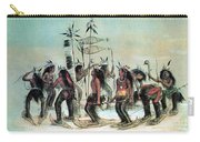 Native American Indian Snow-shoe Dance Carry-all Pouch