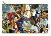 Native American Indians Vs American Soldiers Carry-all Pouch
