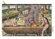 Native Americans: Canoe, 1590 Carry-all Pouch