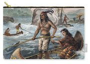 Native Americans/fishing Carry-all Pouch