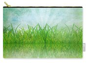 Nature And Grass On Paper Carry-all Pouch by Setsiri Silapasuwanchai
