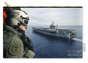 Naval Air Crewman Conducts A Visual Carry-all Pouch