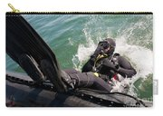 Navy Diver Dives Into San Diego Bay Carry-all Pouch
