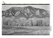 Ncar And Flatiron View Boulder Colorado Bw Carry-all Pouch