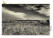 Nebraska Prairie Two In Black And White Carry-all Pouch