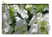 Nemesia Named Poetry White Carry-all Pouch