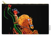Neon Cowboy Las Vegas Carry-all Pouch by Garry Gay