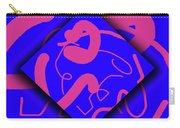 Neon Out Of Bounds Carry-all Pouch by Carolyn Marshall