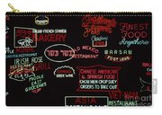 Neon Signs, 1937-1971 Carry-all Pouch by Granger