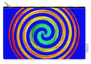 Neon Spiral Blue Carry-all Pouch