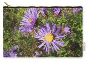 New England Aster Wildflower - Purple Carry-all Pouch